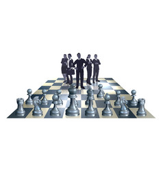 chess business team concept vector image