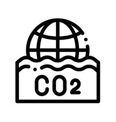Co2 smoulder smoke steam thin line icon vector