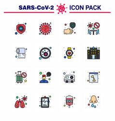coronavirus prevention 25 icon set blue paper vector image
