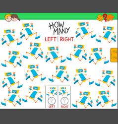 Counting left and right pictures funny robot vector