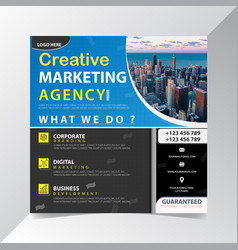 Creative marketing agency best new offer promotion vector