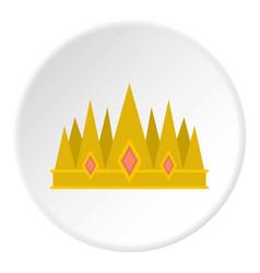 crown icon circle vector image