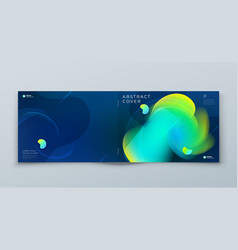 Dark horizontal liquid abstract cover background vector