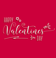 Decorative valentines day background vector