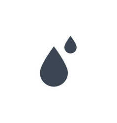 drop related glyph icon vector image