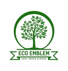 Eco emblem vector image