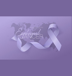 Esophageal cancer awareness calligraphy poster vector