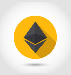 Ethereum crypto currency chrystal icon vector
