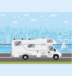 family traveler truck vector image