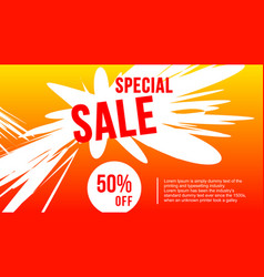 flash sale design for business discount banner vector image
