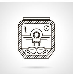 Flat line coffee appliance icon vector image
