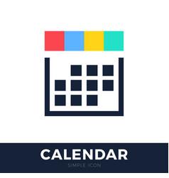 four seasons calendar flat icon calendar line vector image