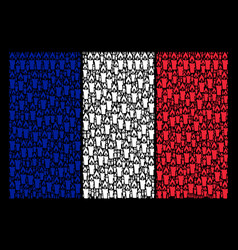 France flag collage of candle icons vector