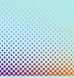 Geometric gradient halftone circle pattern vector