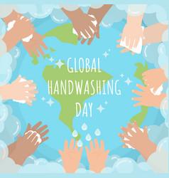 global handwashing day bubble vector image