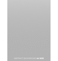 Gradient White Dots on Gray Background A4 size vector