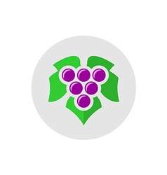 Grape logo vector