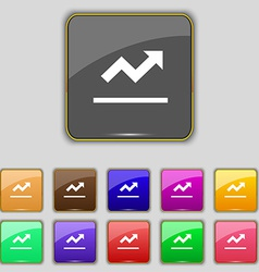 Graph chart Diagram icon sign Set with eleven vector