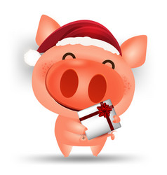 Happy chinese new year 2019 cartoon pig isolated vector