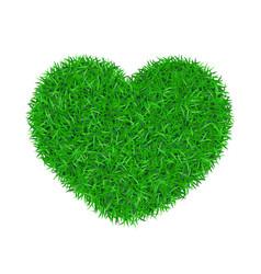 Heart green grass 3d green grass love land vector