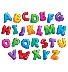 Image with alphabet theme 2 vector