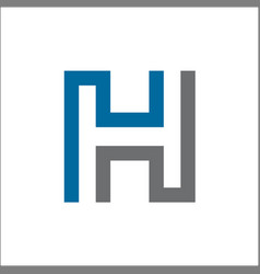 initial h abstract logo template vector image