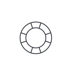 lifebuoy thin line icon linear symbol vector image