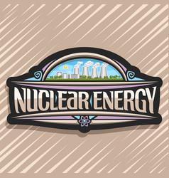 Logo for nuclear energy vector