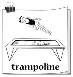 Man jumping on trampoline vector