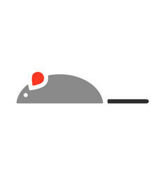 mouse a toy for cat flat color icon vector image