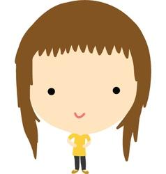 Naughty girl vector image