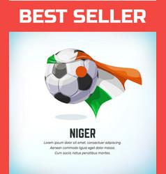 Niger nigerian football or soccer ball football vector