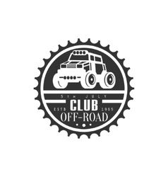 Off-Road Extreme Club And Rental Event Black And vector image