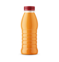 Orange juice bottle template vector