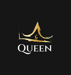 queen crown logo design vector image
