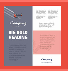 route business company poster template with place vector image