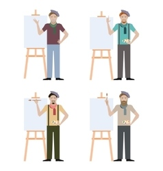 Set of Artists vector image