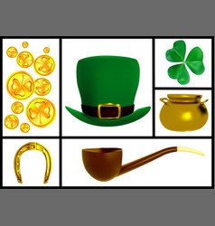 set of images for the patricks day vector image