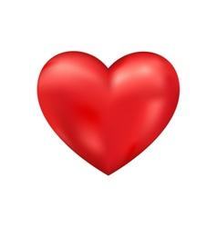 shiny 3d heart vector image