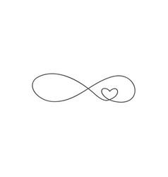 sign of infinity and heart icon element of vector image