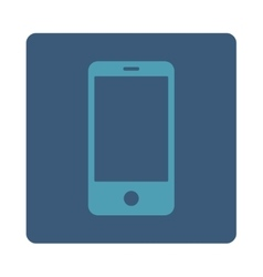 Smartphone flat cyan and blue colors rounded vector image