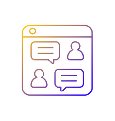Social discussion platforms gradient linear icon vector
