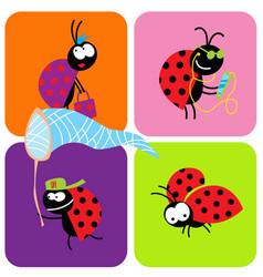 social life beetles vector image
