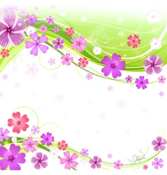 Spring floral background vector