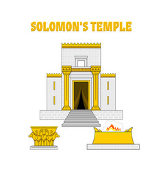 Temple king solomon vector