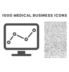 Trend Monitoring Icon with 1000 Medical Business vector