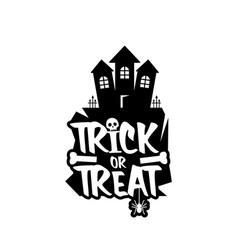 trick o treat design vector image