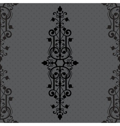 Vintage background ornament black frame vector image