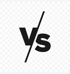 Vs versus letters icon vector