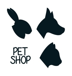 Animals pet shop graphic vector image